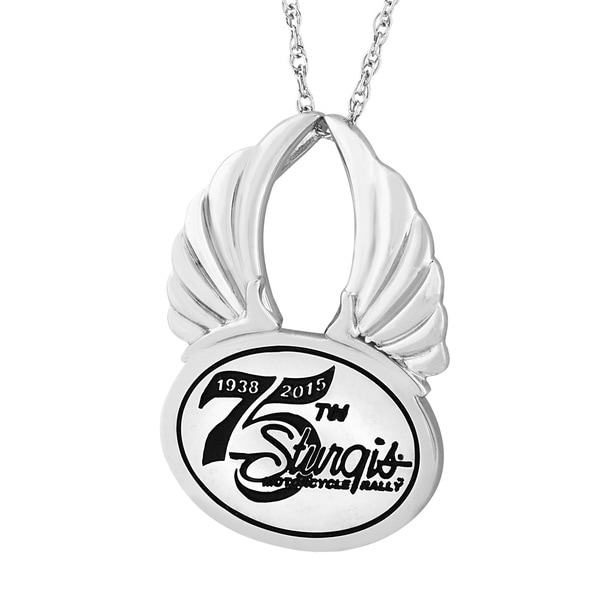 Sterling Silver 75th Sturgis Rally Winged Pendant