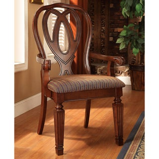 Furniture of America Woodrow Traditional Cherry Arm Chair (Set of 2)