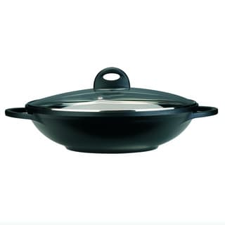 CooknCo 12.5-inch Cast Alum Covered Wok