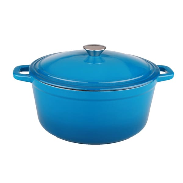 Neo 5qt Cast Iron Covered Casserole Blue