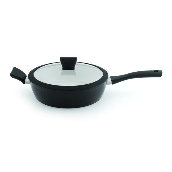 Eclipse Black and White 10-inch Covered Saute Pan