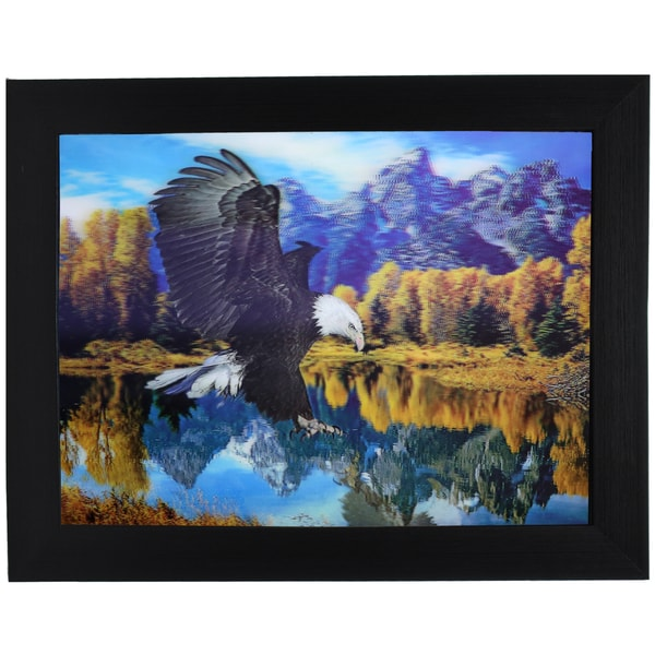 Flying Eagle Framed 3D Wall Art