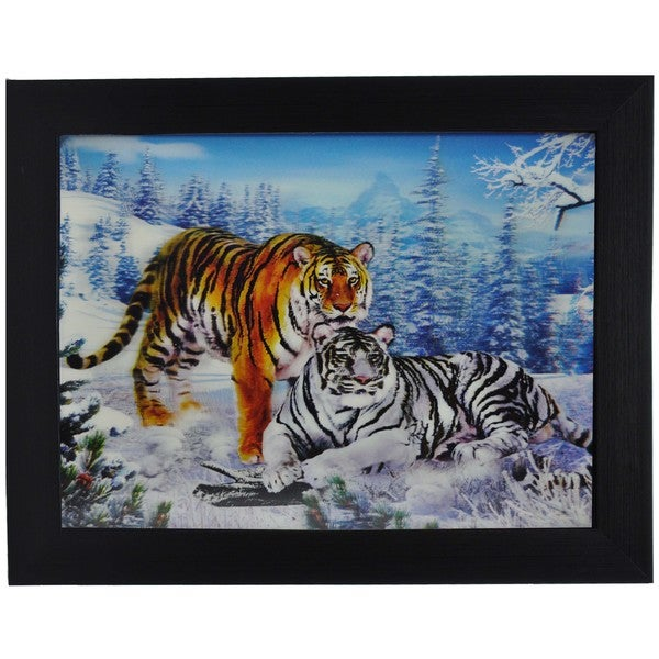 Rare Tigers Framed 3D Wall Art