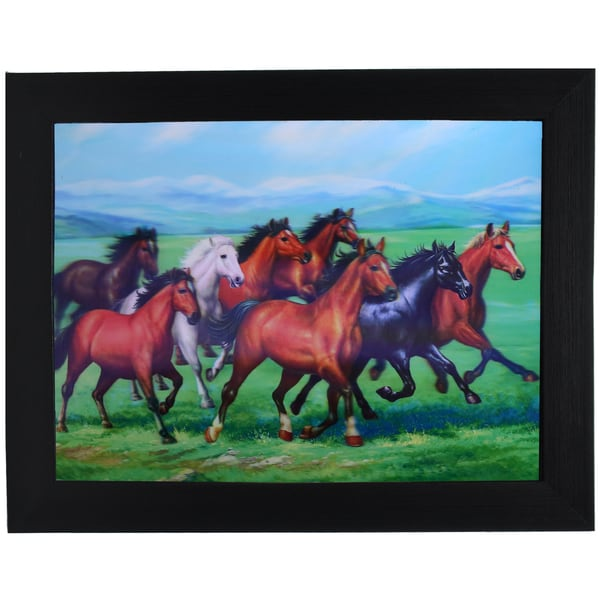 Wild Horses Framed 3D Wall Art