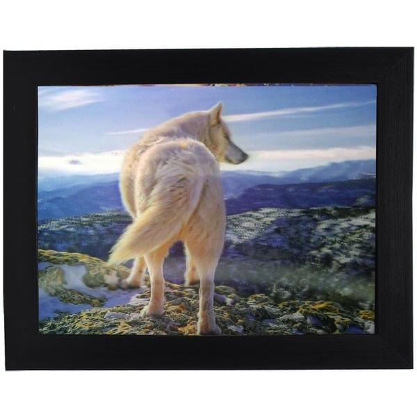 Lone Wolf Framed 3D Wall Art