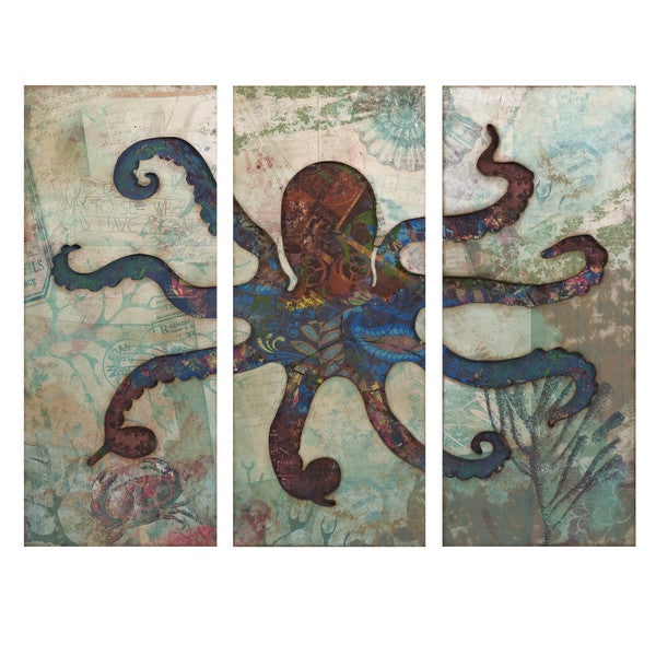 Splash Tryptych Octopus