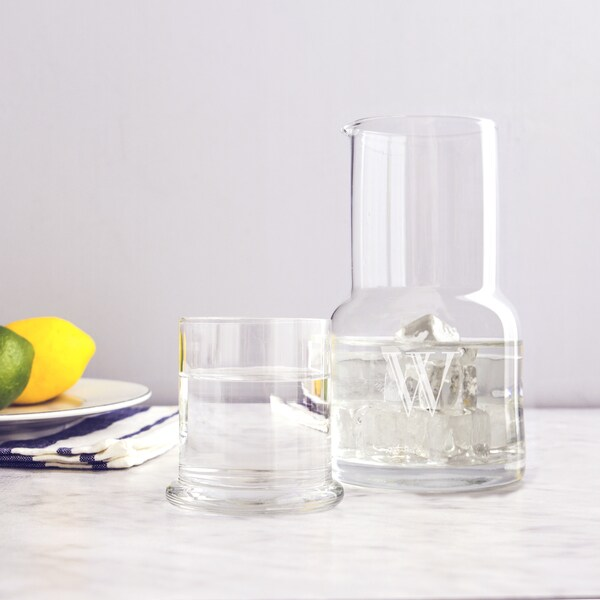 Personalized 28 oz. Bedside Water Carafe and Glass Set