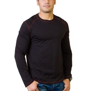 Steven Craig Apparel Men's Long Sleeve Crew Neck T-shirt with Contrasting Trim
