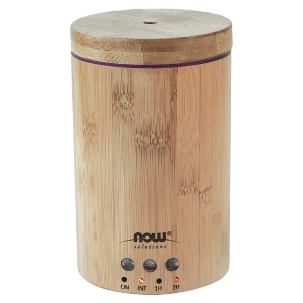 Now Foods Solutions Ultrasonic Real Bamboo Essential Oil Diffuser