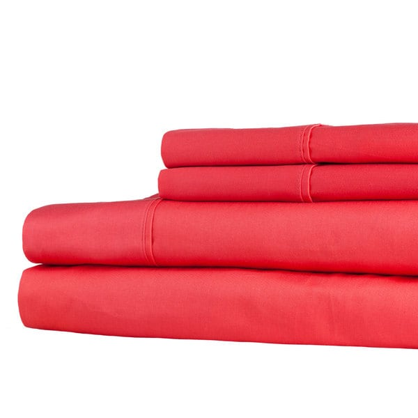 Windsor Home 100-percent Egyptian Cotton 300 Thread Count Sheet Set - Coral