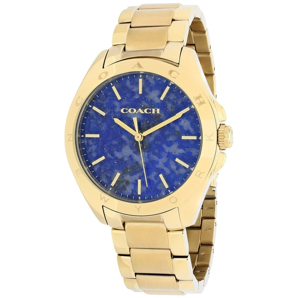 Coach Women's 14502051 Tristen Round Gold-Plated Stainless Steel Bracelet Watch