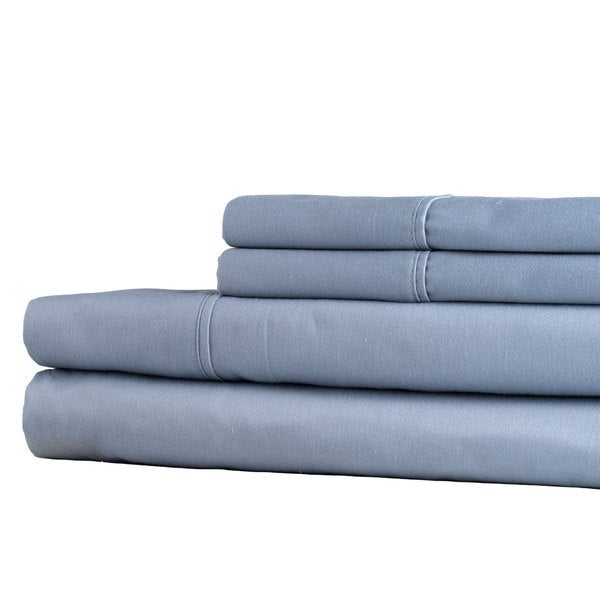 Windsor Home 100-percent Egyptian Cotton 300 Thread Count Sheet Set - Silver