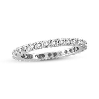 Suzy Levian 14K White Gold 1/2 ct TDW Diamond Eternity Band Ring (H-I, I1-I2)