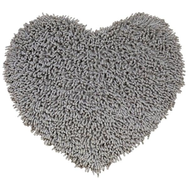 "Grey Shagadelic Chenille Twist (20x24"") Shag Heart"
