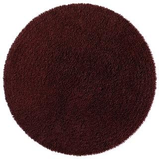Brown Shagadelic Chenille Twist (2'x2') Round Shag Rug