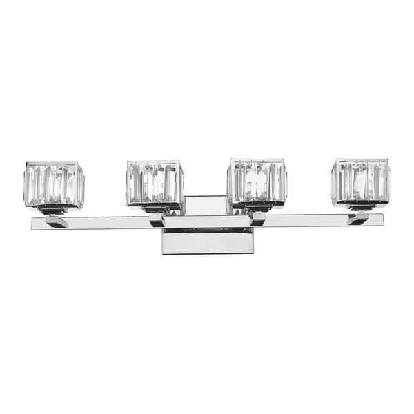 Chloe Contemporary 4-light Chrome Bath/ Vanity Light - 17653808 - Overstock.com Shopping - Top ...
