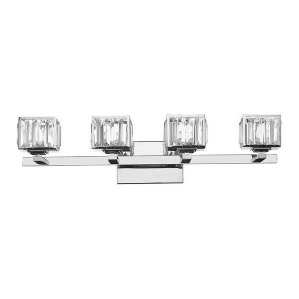 Contemporary Chrome Vanity Lights : Chloe Contemporary 4-light Chrome Bath/ Vanity Light - 17653808 - Overstock.com Shopping - Top ...