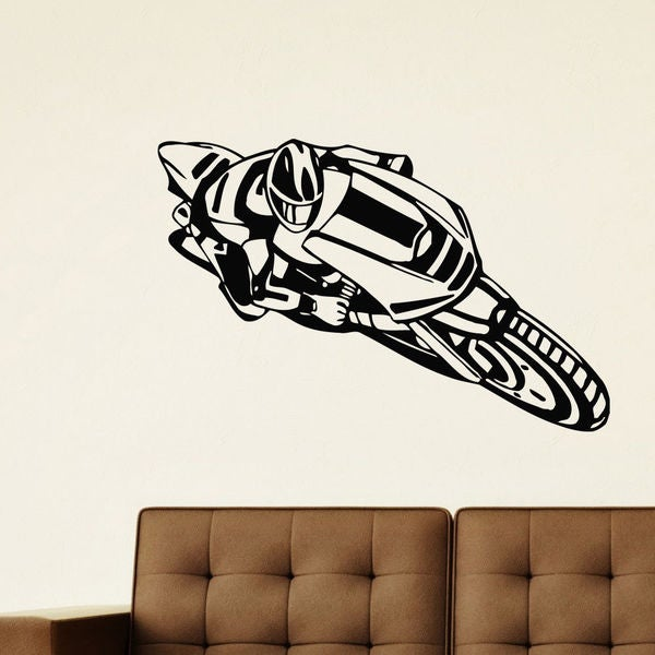 Bike Crotch Rocket Sport Bike Vinyl Wall Art Decal Sticker
