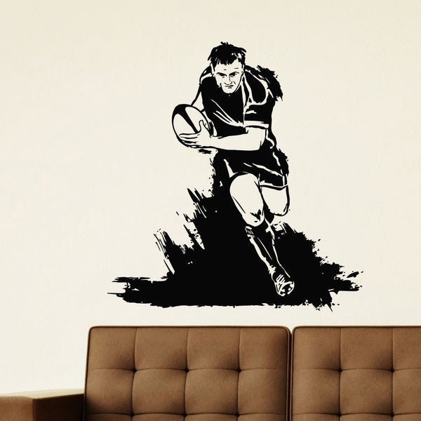 Rugby Player Vinyl Wall Art Decal Sticker