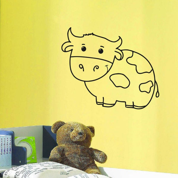 Cow Kids Room Vinyl Wall Art Decal Sticker