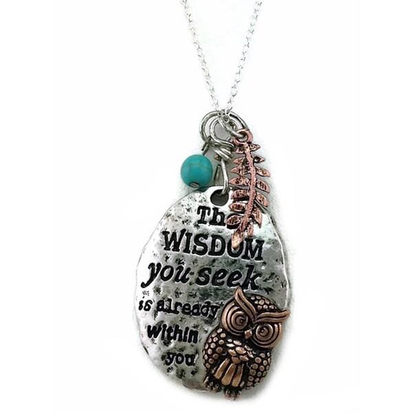 Mama Designs Handmade Inspiring Owl Necklace