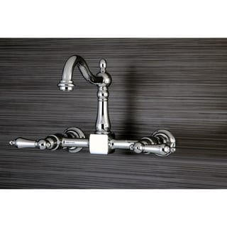 Victorian Wallmount Chrome Kitchen Faucet