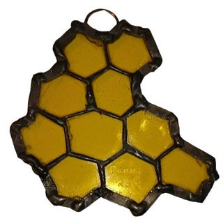 Stained Glass Honeycomb Stained Glass Suncatcher