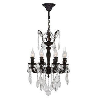"""French Imperial Collection 8 Light Flemish Brass Finish and Clear Crystal Chandelier 16"""" x 23"""""""