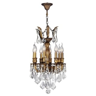 """French Imperial Collection 5 light French Gold Finish and Golden Teak Crystal Chandelier 13"""" x 23"""""""