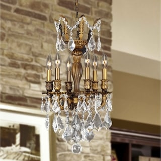French Imperial Collection 6-light Antique Bronze Finish Crystal 13 x 23-inch Mini Chandelier