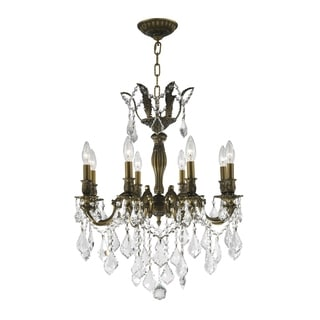 """French Imperial Collection 8 light Antique Bronze Finish and Clear Crystal Chandelier 22"""" x 26"""""""