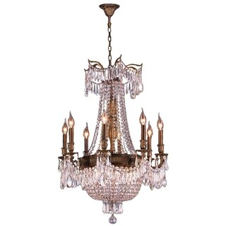 Regal Estate Collection 12-light Antique Bronze Finish and Clear Crystal Chandelier