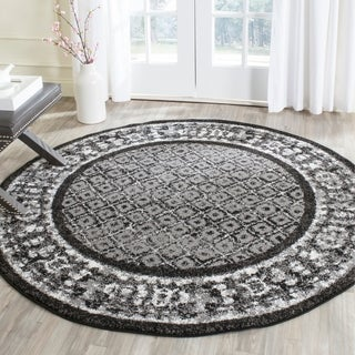 Safavieh Adirondack Black/ Silver Rug (6' Round)