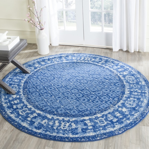 Safavieh Adirondack Light Blue Dark Blue Rug 6 Round