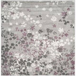 Safavieh Adirondack Light Grey/ Purple Rug (6' Square)