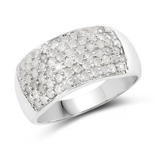 Malaika Sterling Silver 1 1/5ct TDW Diamond Ring (I-J, I2-I3)