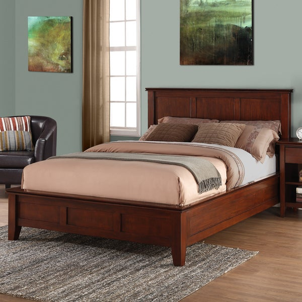 Wyndenhall Medium Auburn Brown Stratford Bedroom Queen Bed Frame
