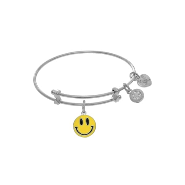 Angelica Yellow Smily Face Tween Bangle