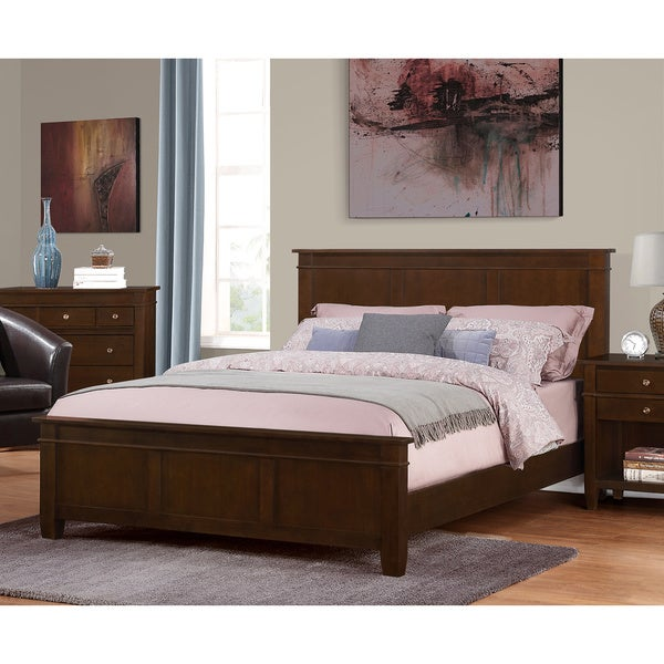 Wyndenhall Tobacco Brown Sterling Bedroom Queen Bed Frame