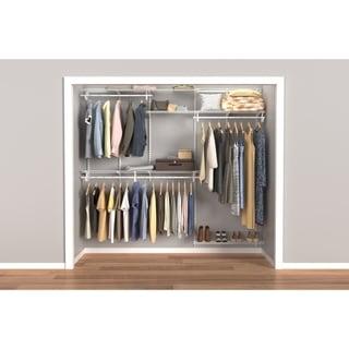 ClosetMaid ShelfTrack 5ft to 8ft Closet Organizer Kit, White