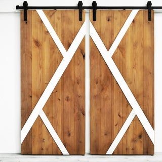 """Dogberry Mod-Y Double Barn Doors, 36""""W x 82""""H each (Fully Assembled Doors Only)"""