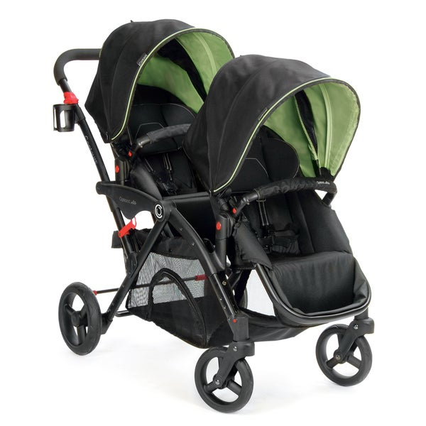 Contours Options Elite Envy Green Tandem Stroller