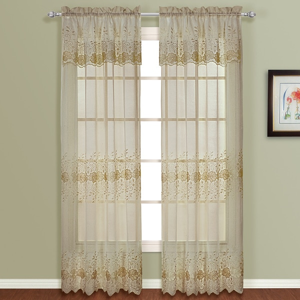 Marianna Panel Pair with Attached Valance