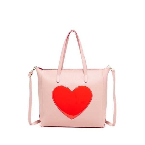 Pink Haley Pop Heart Tote