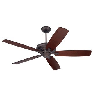 Emerson Carrera 60-Inch Oil Rubbed Bronze Transitional Ceiling Fan with Reversible Blades