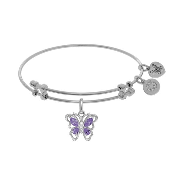 Angelica Butterfly Charm with Purple Cubic Zirconia