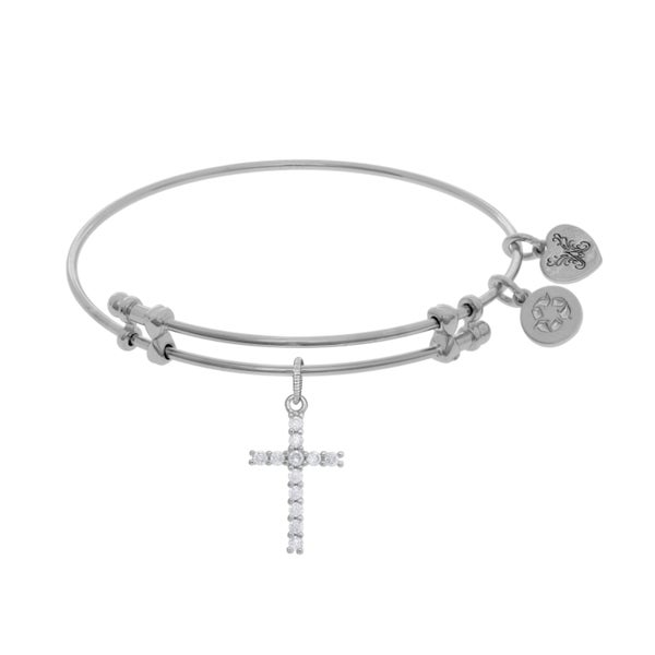 Angelica Cross Charm with White Cubic Zirconia