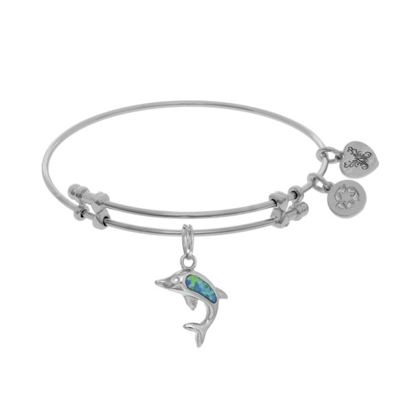 Angelica Created Opal Single Dolphin Charm