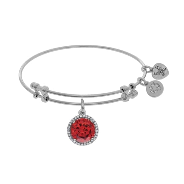 Angelica Birthstone Charm Bangle Bracelet