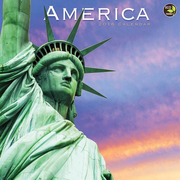 2016 America Wall Calendar